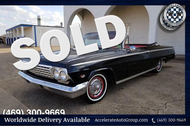 1962 Chevrolet Impala SS 327 V8, REAL BLACK/RED SS in Rowlett