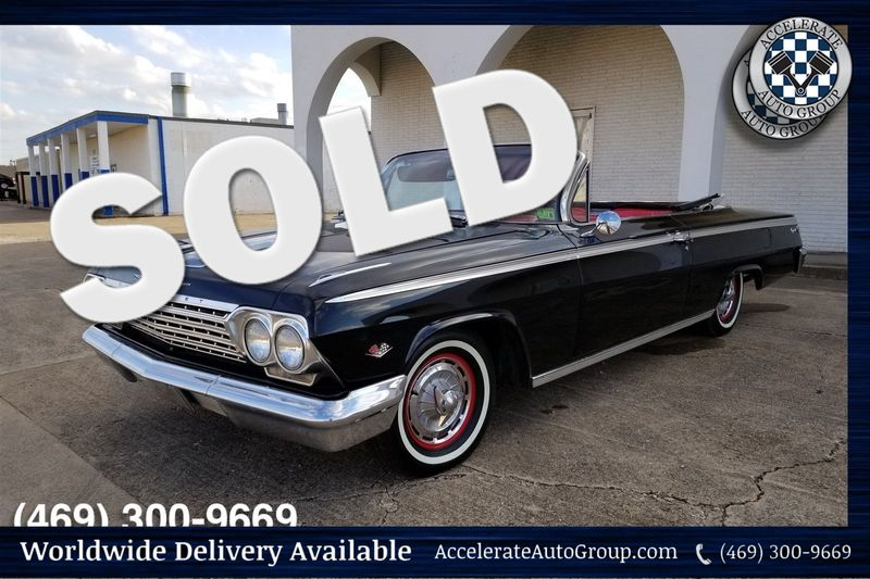 1962 Chevrolet Impala SS 327 V8, REAL BLACK/RED SS in Rowlett Texas