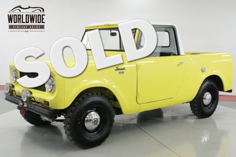 1962 International SCOUT 80 4X4 REMOVABLE TOP IMMACULATE MUST SEE  | Denver, CO | Worldwide Vintage Autos in Denver, CO