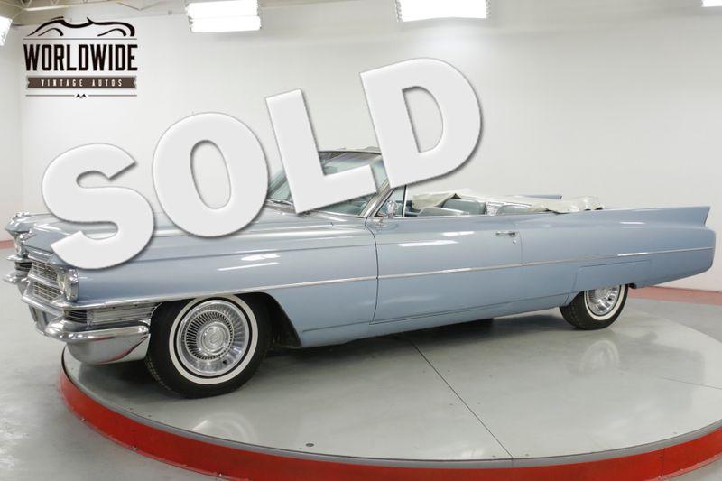 1963 Cadillac DEVILLE CONVERTIBLE AC PS PB PW V8 TONS OF CHROME   Denver, CO   Worldwide Vintage Autos