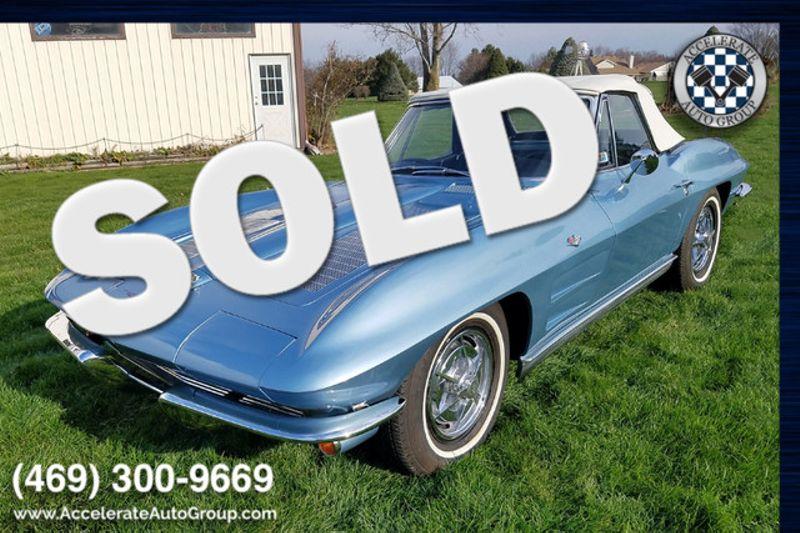 1963 Chevrolet Corvette BLOOMINGTON GOLD CERTIFIED! in Rowlett Texas