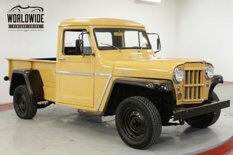 1963 Jeep WILLYS LOW MILES. 4X4. SHORTBOX. COLLECTOR GRADE  | Denver, CO | Worldwide Vintage Autos in Denver, CO