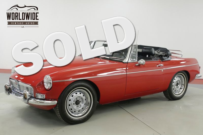 1963 Mg Mgb Rare Roadster Convertible Red Manual Denver Co Worldwide Vintage Autos