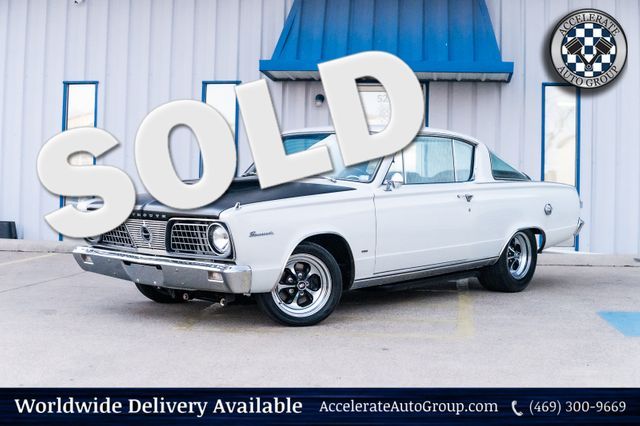 1966 Plymouth Barracuda BADA$$ 1 OF A KIND BARRACUDA 408 STROKER 5 SPD!!   in Rowlett