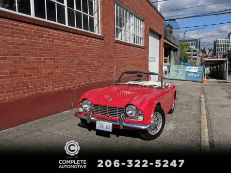 1964 Triumph TR-4 Roadster Convertible 82,000 Orig Miles Local 1 Owner History Records 1st Time Offered For Sale in Seattle