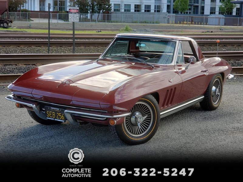 1965 Chevrolet Corvette Stingray Convertible Matching L79 V8 Factory AC Knockoffs Hard Top  city Washington  Complete Automotive  in Seattle, Washington