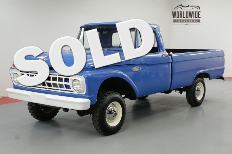 1965 Ford F100 FACTORY 4X4 WITH 390 V8. RARE! | Denver, CO | Worldwide Vintage Autos