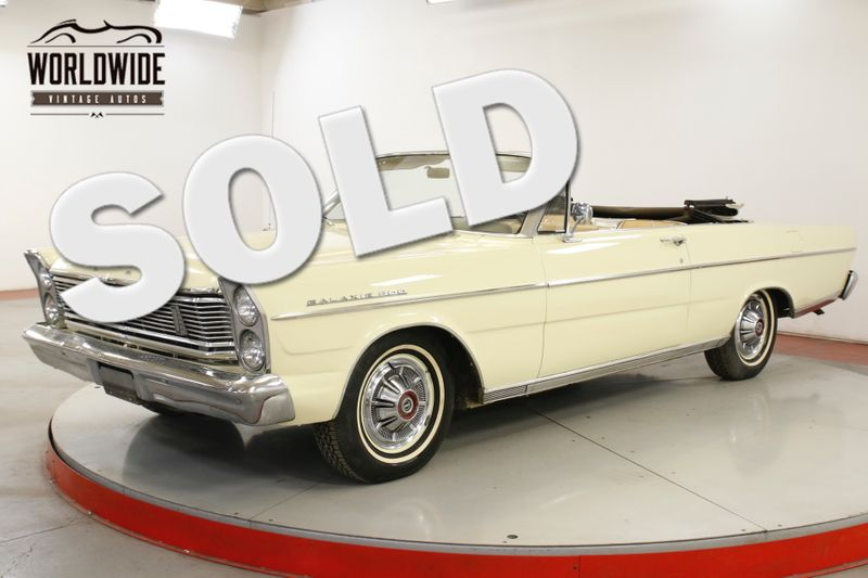 1965 Ford GALAXIE 500 CONVERTIBLE 289 PS READY FOR SUMMER | Denver, CO | Worldwide Vintage Autos