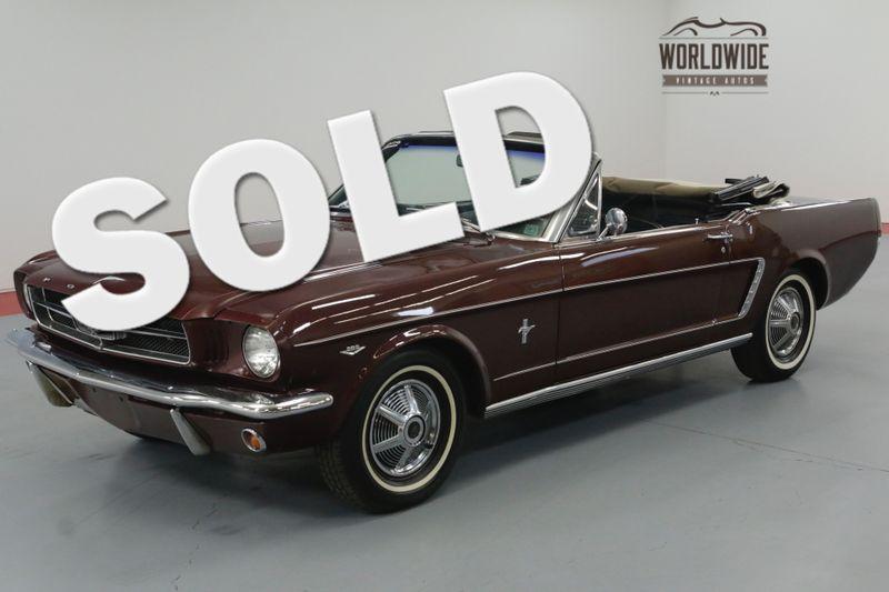 1965 Ford MUSTANG CONVERTIBLE 289 AUTO ORIGINAL. | Denver, CO | Worldwide Vintage Autos