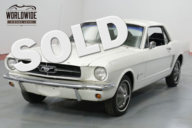 1965 Ford MUSTANG WIMBLEDON WHITE.  | Denver, CO | Worldwide Vintage Autos