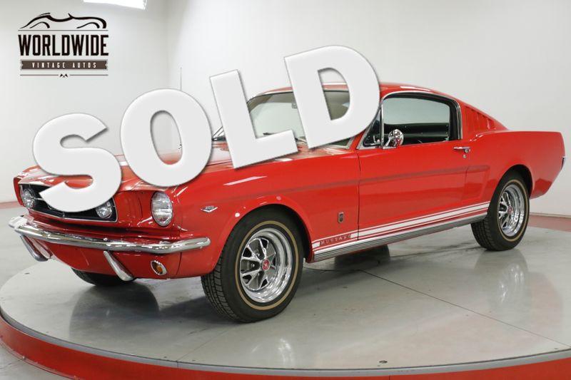 1965 Ford MUSTANG  GT FASTBACK V8   Denver, CO   Worldwide Vintage Autos