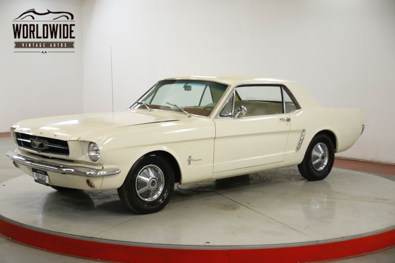1965 Ford MUSTANG  OFF WHITE STRAIGHT 6 ORIGINAL MILES | Denver, CO | Worldwide Vintage Autos