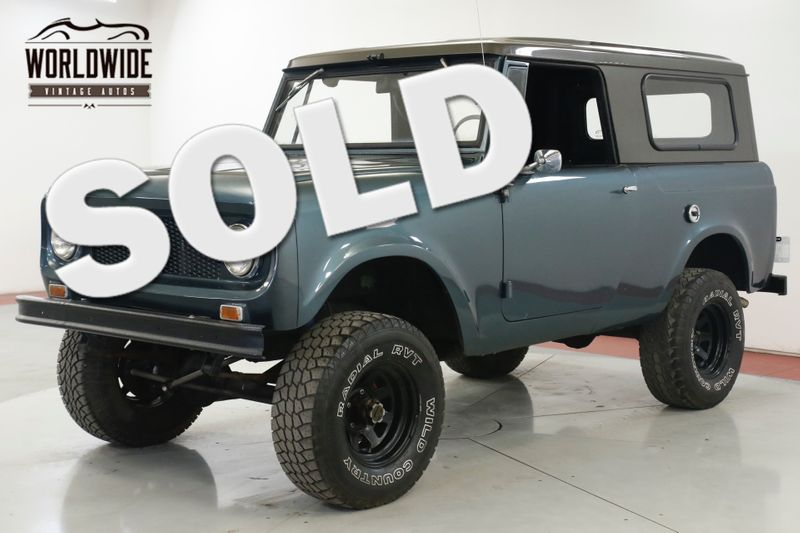 1965 International SCOUT 80 3SPD REMOVABLE TOP NEW PAINT LIFTED STANCE | Denver, CO | Worldwide Vintage Autos
