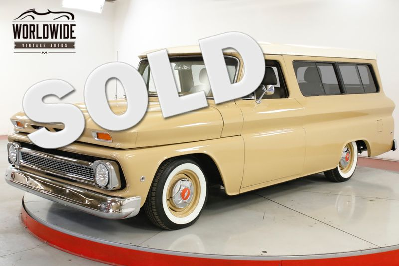 1966 Chevrolet SUBURBAN RESTOMOD. LS ENGINE AIR BAGS AC. DISC. DIGITAL. | Denver, CO | Worldwide Vintage Autos