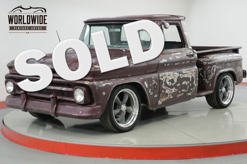 1966 Chevrolet C10  SHORT BED PS PB V8 DISC PATINA CUSTOM WHEELS | Denver, CO | Worldwide Vintage Autos