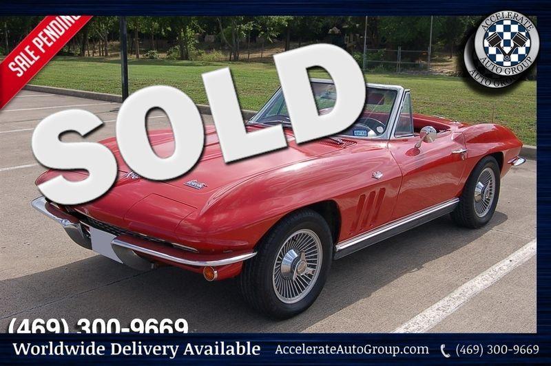 1966 Chevrolet Corvette Convertible 4 Spd, Two Tops, Factory AC in Rowlett Texas