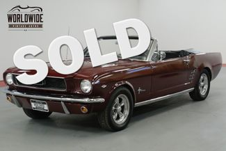 1966 Ford MUSTANG CONVERTIBLE NICELY RESTORED 289 V8. AC. DISC! | Denver, CO | Worldwide Vintage Autos in Denver CO