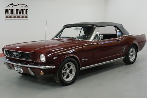 1966 Ford MUSTANG CONVERTIBLE NICELY RESTORED 289 V8. AC. DISC! | Denver, CO | Worldwide Vintage Autos in Denver, CO