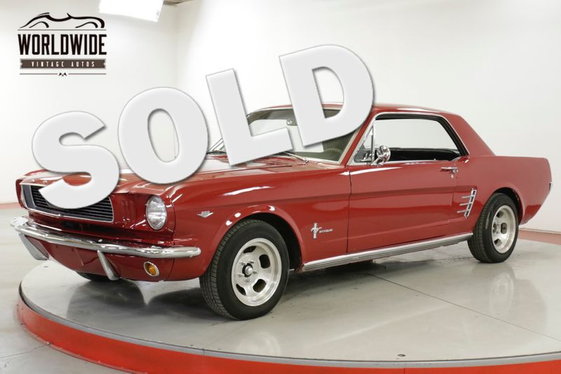 1966 Ford MUSTANG 302V8 4-SPEED DUAL EXHAUST HURST SHIFTER  | Denver, CO | Worldwide Vintage Autos