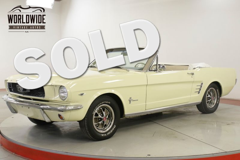 1966 Ford MUSTANG 289V8 4-SPEED PS PB FRONT DISC BRAKES | Denver, CO | Worldwide Vintage Autos