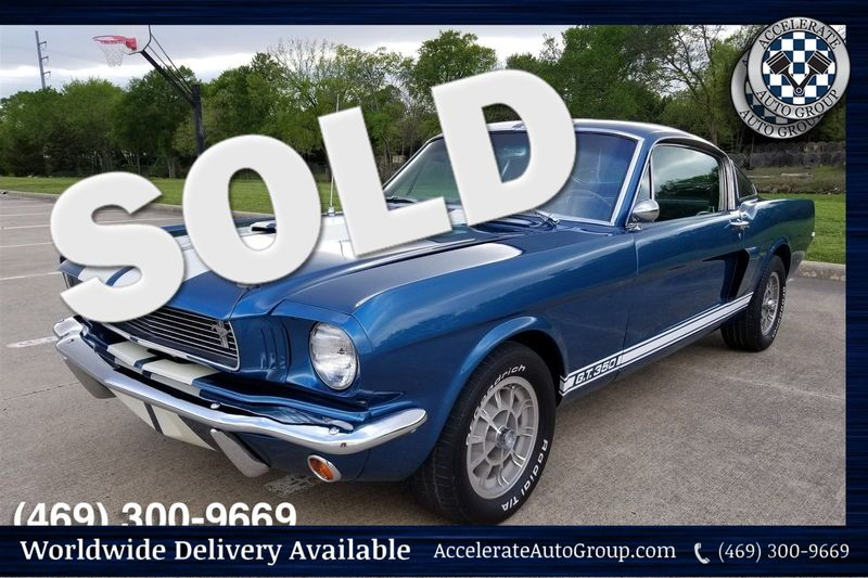 1966 Ford Shelby Mustang GT350 Fastback - REAL DEAL in Rowlett Texas