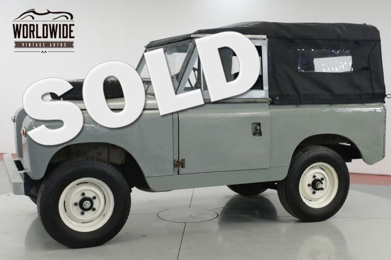 1966 Land Rover SERIES 88 IIA CONVERTIBLE. NEW TOP! 35K ORIGINAL MILES  | Denver, CO | Worldwide Vintage Autos
