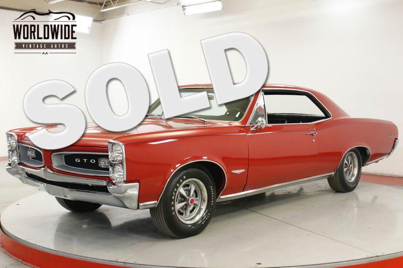 1966 Pontiac GTO 389 TRI-POWER V8. RESTORED. | Denver, CO | Worldwide Vintage Autos