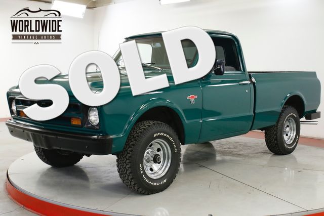 1967 Chevrolet K10 4X4 SHORT BOX 4X4 NEW 350 V8 4-SPEED MANUAL | Denver, CO | Worldwide Vintage Autos in Denver CO