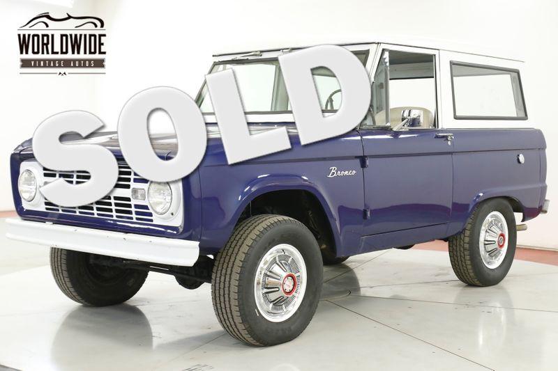1967 Ford BRONCO UNCUT BODY 289V8 3SPD 4X4 CONVERTIBLE TOP  | Denver, CO | Worldwide Vintage Autos