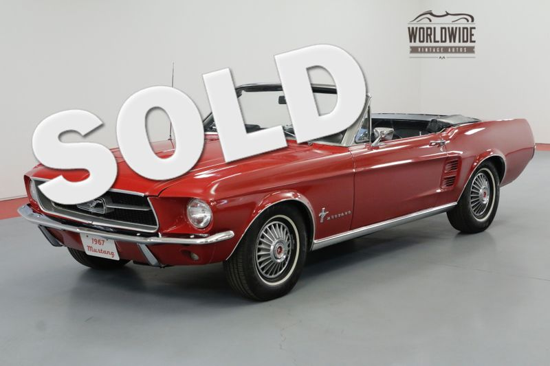 1967 Ford MUSTANG 302 AUTOMATIC. POWER TOP SUMMERTIME FUN  | Denver, CO | Worldwide Vintage Autos