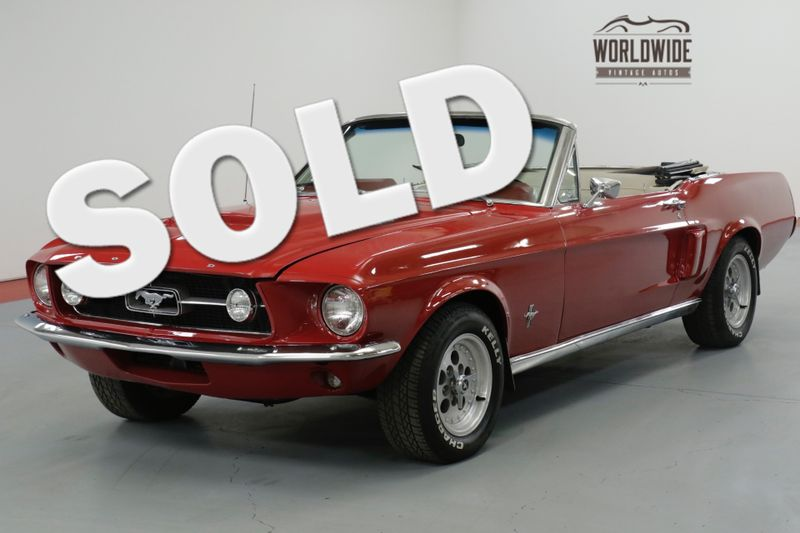 1967 Ford MUSTANG  CONVERTIBLE. RESTORED 289 V8! AUTO. MUST SEE  | Denver, CO | Worldwide Vintage Autos