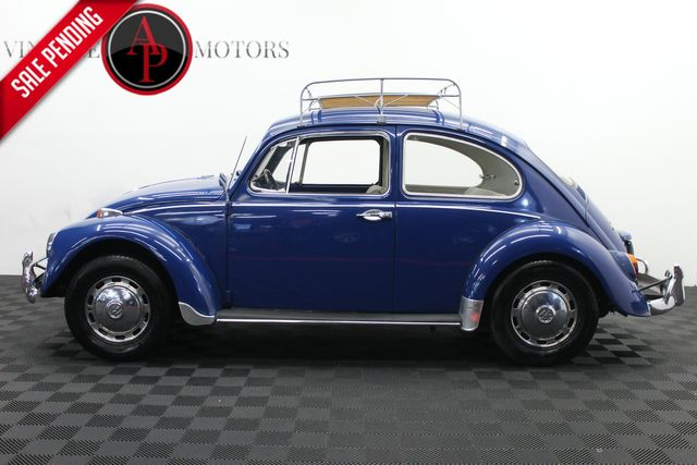 1967 Volkswagen BEETLE REAR POP OUT WINDOWS CHROME ACCENTS ROOF RACK