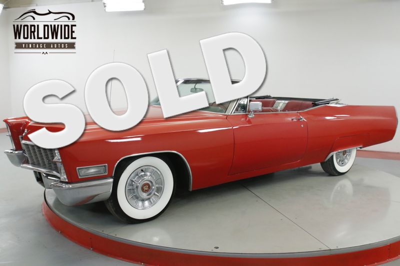 1968 Cadillac DEVILLE 472 V8 AUTOMATIC POWER TOP WIDE WHITE RADIAL | Denver, CO | Worldwide Vintage Autos