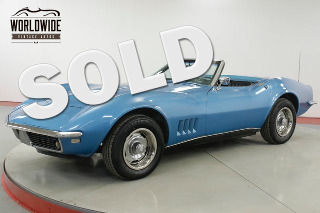 1968 Chevrolet CORVETTE  327/300 V8 4-SPEED CONVERTIBLE RALLYE WHEELS  | Denver, CO | Worldwide Vintage Autos in Denver CO