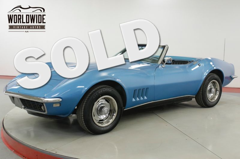 1968 Chevrolet CORVETTE  327/300 V8 4-SPEED CONVERTIBLE RALLYE WHEELS  | Denver, CO | Worldwide Vintage Autos