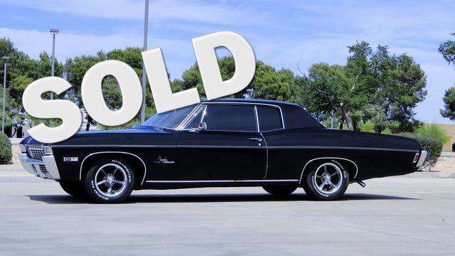 """1968 Chevrolet IMPALA SPORT COUPE FACTORY BLACK WITH AQUA INTERIOR """"RARE"""""""