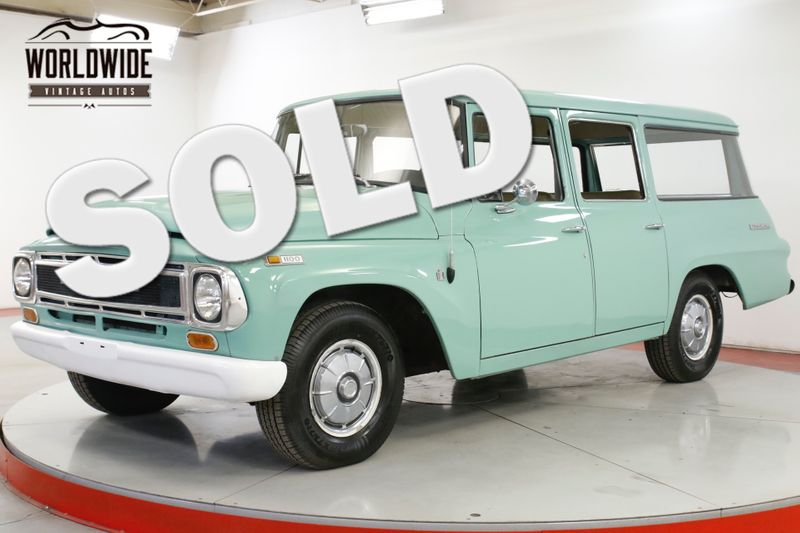1968 International TRAVELALL 4SPD WITH OVERDRIVE UNMOLESTED COLLECTOR | Denver, CO | Worldwide Vintage Autos