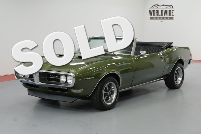 1968 Pontiac FIREBIRD CONVERTIBLE 400 4-SPEED  | Denver, CO | Worldwide Vintage Autos