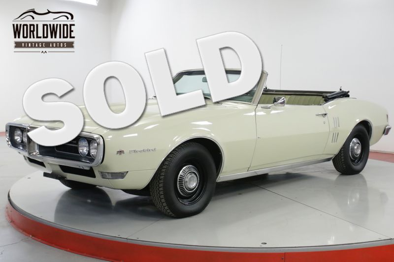 1968 Pontiac FIREBIRD CONVERTIBLE PS PB ORIGINAL | Denver, CO | Worldwide Vintage Autos