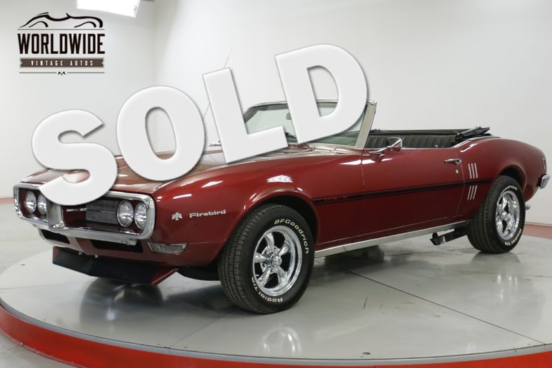 1968 Pontiac FIREBIRD  RARE CONVERTIBLE 350 V8 #'S MATCH. RESTORED | Denver, CO | Worldwide Vintage Autos