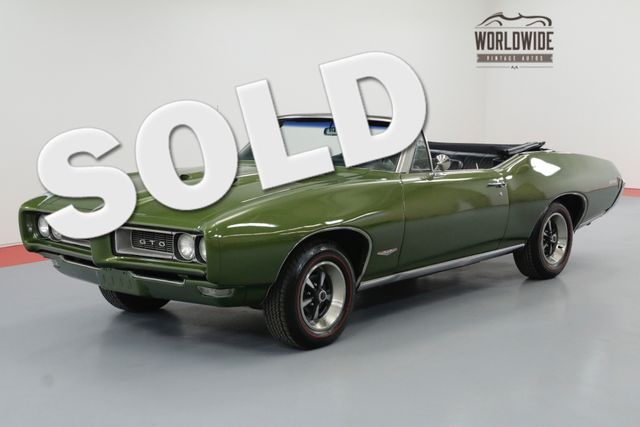 1968 Pontiac GTO 400V8 AUTO PHS DOCUMENTED POWER TOP | Denver, CO | Worldwide Vintage Autos in Denver CO