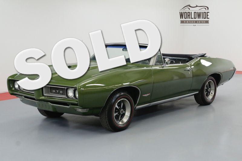 1968 Pontiac GTO 400V8 AUTO PHS DOCUMENTED POWER TOP | Denver, CO | Worldwide Vintage Autos