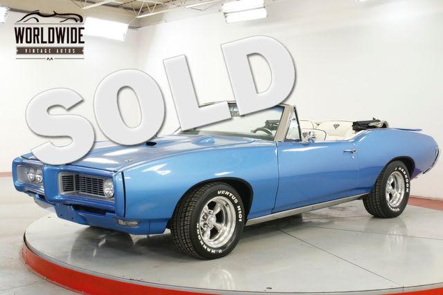 1968 Pontiac GTO BODY-OFF RESTORED CONVERTIBLE AC 400 V8 PS | Denver, CO | Worldwide Vintage Autos in Denver CO