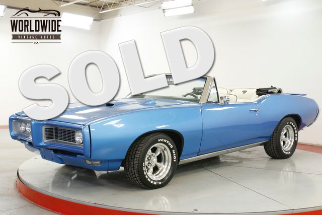 1968 Pontiac GTO BODY-OFF RESTORED CONVERTIBLE AC 400 V8 PS | Denver, CO | Worldwide Vintage Autos in Denver CO