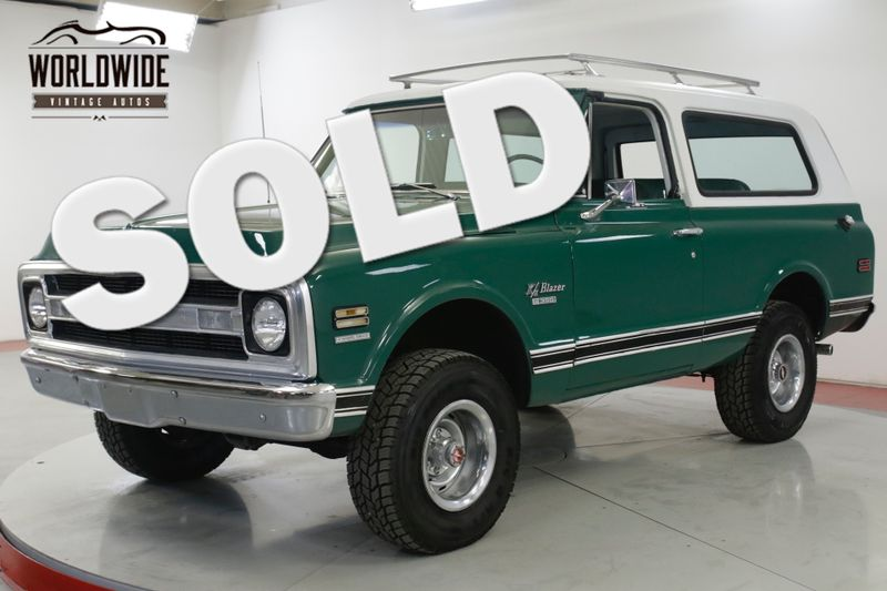 1969 Chevrolet BLAZER CST 1 OF 4,935 COLLECTOR GRADE K5 4x4 AUTO!  | Denver, CO | Worldwide Vintage Autos