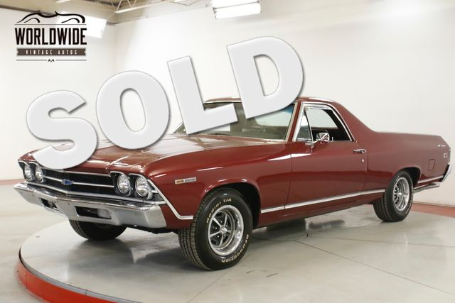 1969 Chevrolet EL CAMINO RARE. V8 PS PB A/C DUAL EXHAUST AUTO | Denver, CO | Worldwide Vintage Autos in Denver CO
