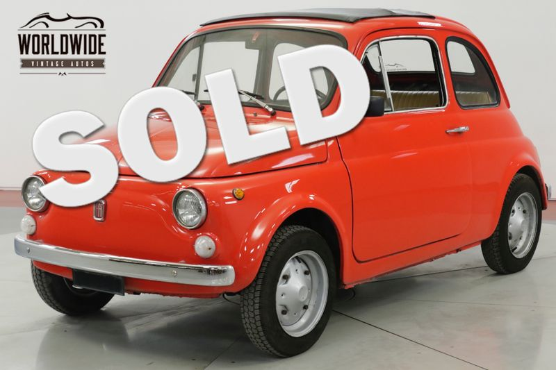 1969 Fiat 500 ITALIAN MICROCAR RAGTOP SUNROOF 650CC 4SPD | Denver, CO | Worldwide Vintage Autos