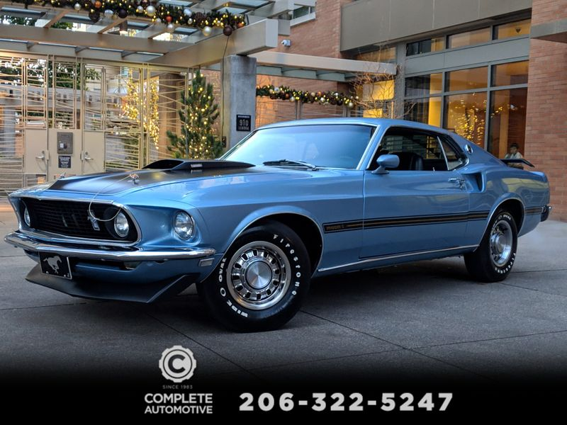 1969 Ford Mustang Mach 1 Fastback 390ci S-code 4-Speed 56983 Original Miles Restored to Factory Specs  city Washington  Complete Automotive  in Seattle, Washington