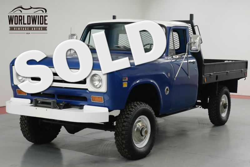 1969 International TRUCK  HARVESTER TRUCK 1200D. FRAME OFF RESTORED!  | Denver, CO | Worldwide Vintage Autos