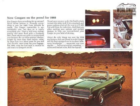 1969 Mercury COUGAR TRIPLE BLACK HIDE AWAY HEADLIGHTS AC V8 | Denver, CO | Worldwide Vintage Autos in Denver, CO